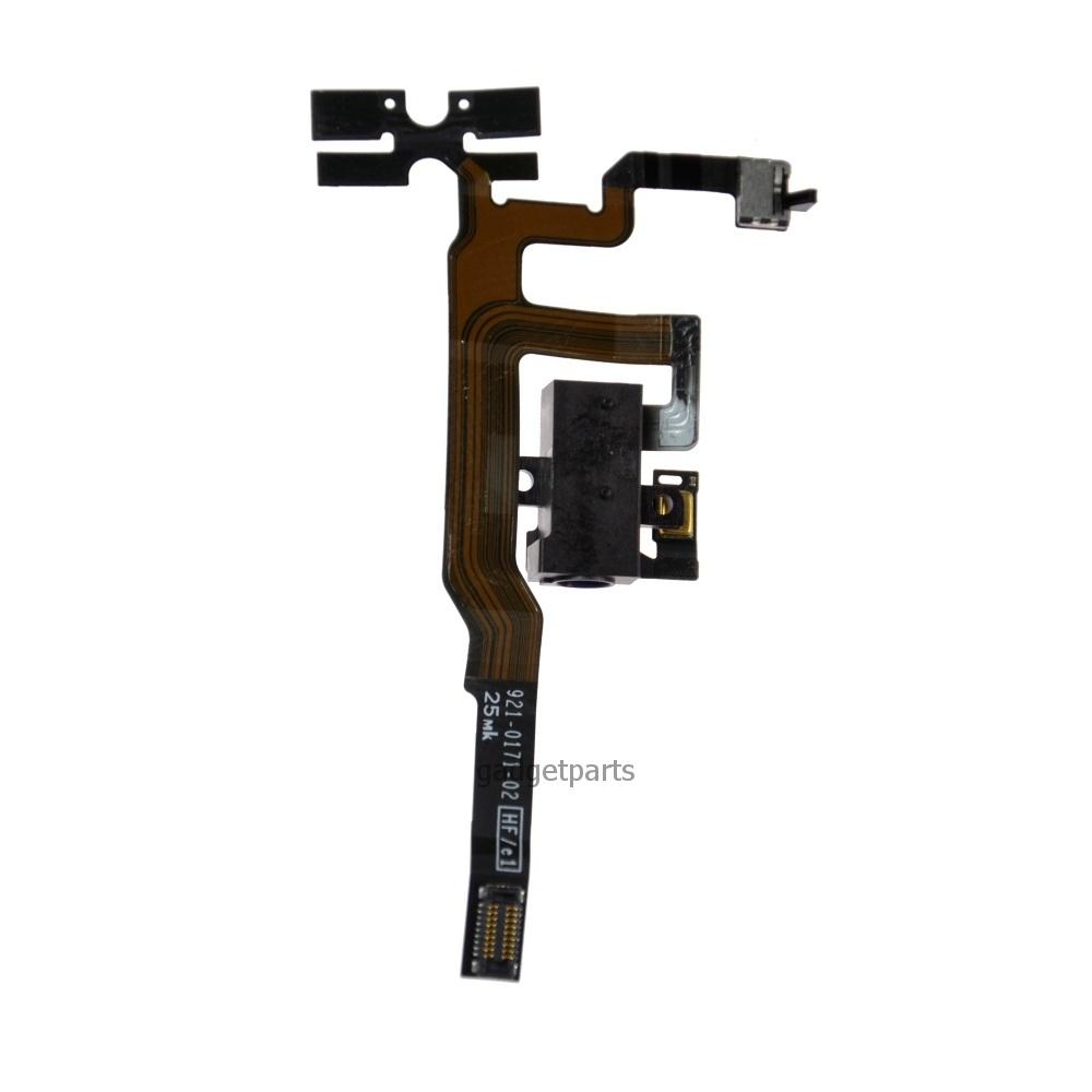 Верхний аудио шлейф iPhone 4 Черный (Black)