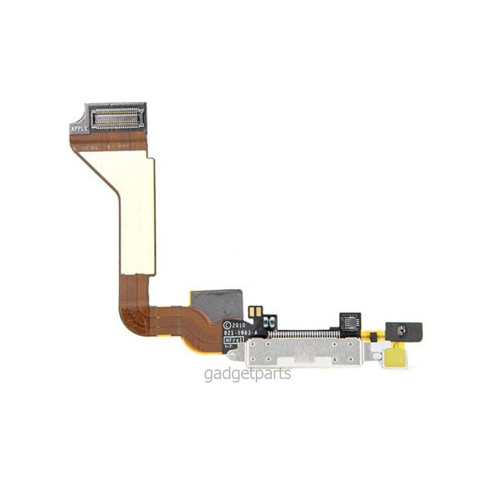 Нижний шлейф зарядки iPhone 4 Белый (White)