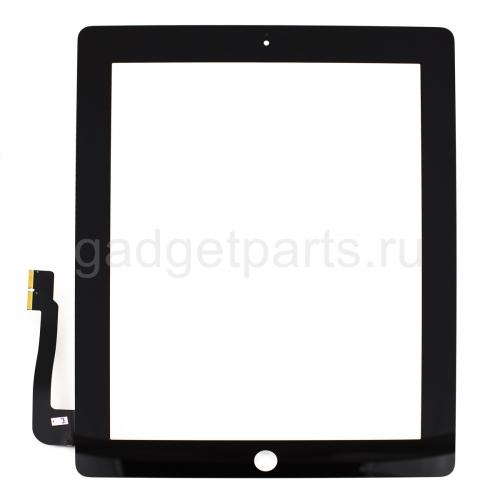 Сенсорное стекло, тачскрин iPad 3, 4 Черный (Black)