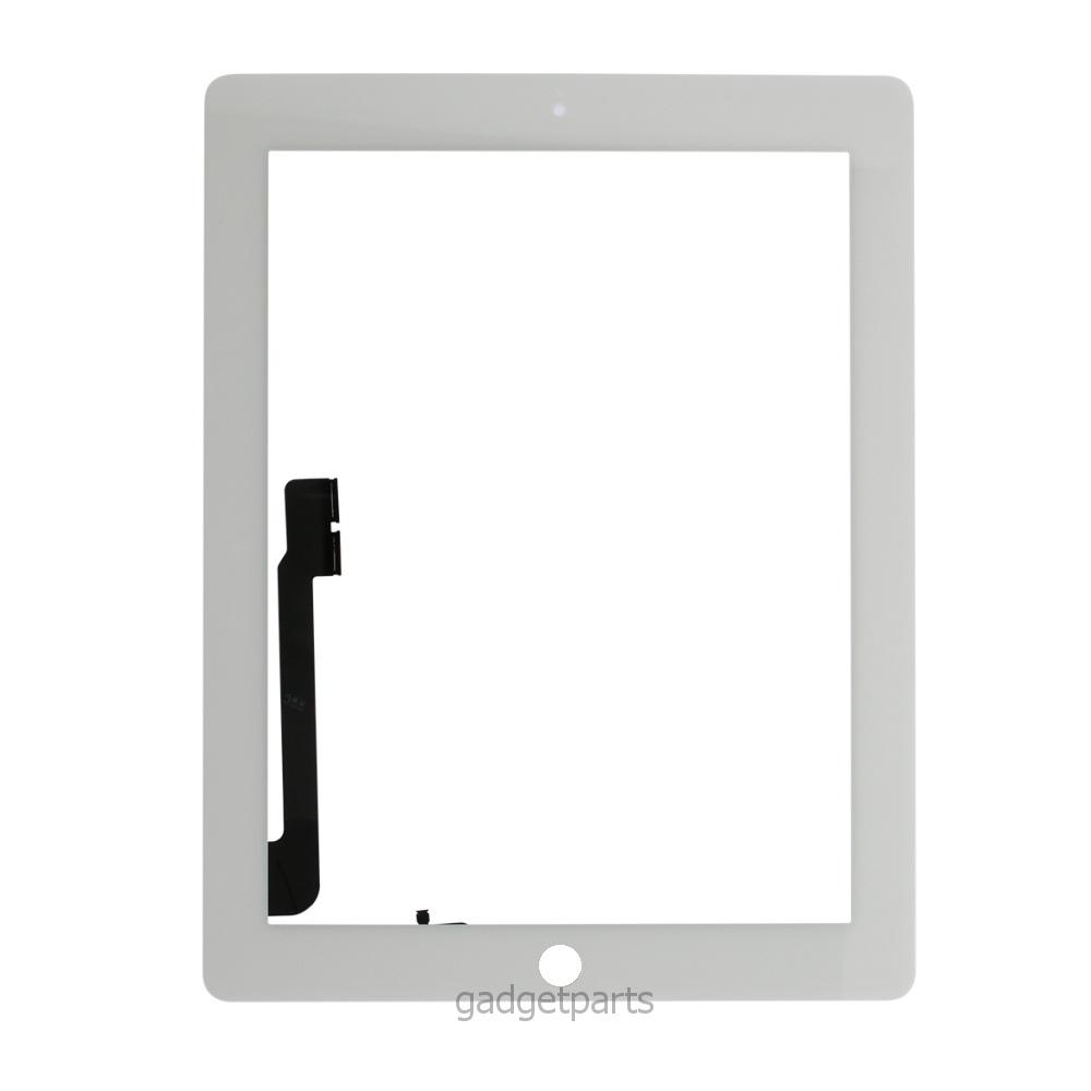 Сенсорное стекло, тачскрин iPad 3, 4 Белый (White)
