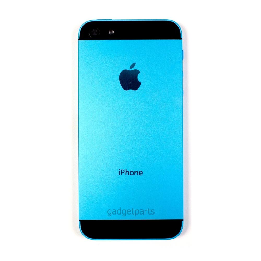 Задняя крышка iPhone 5 Голубая (Blue)