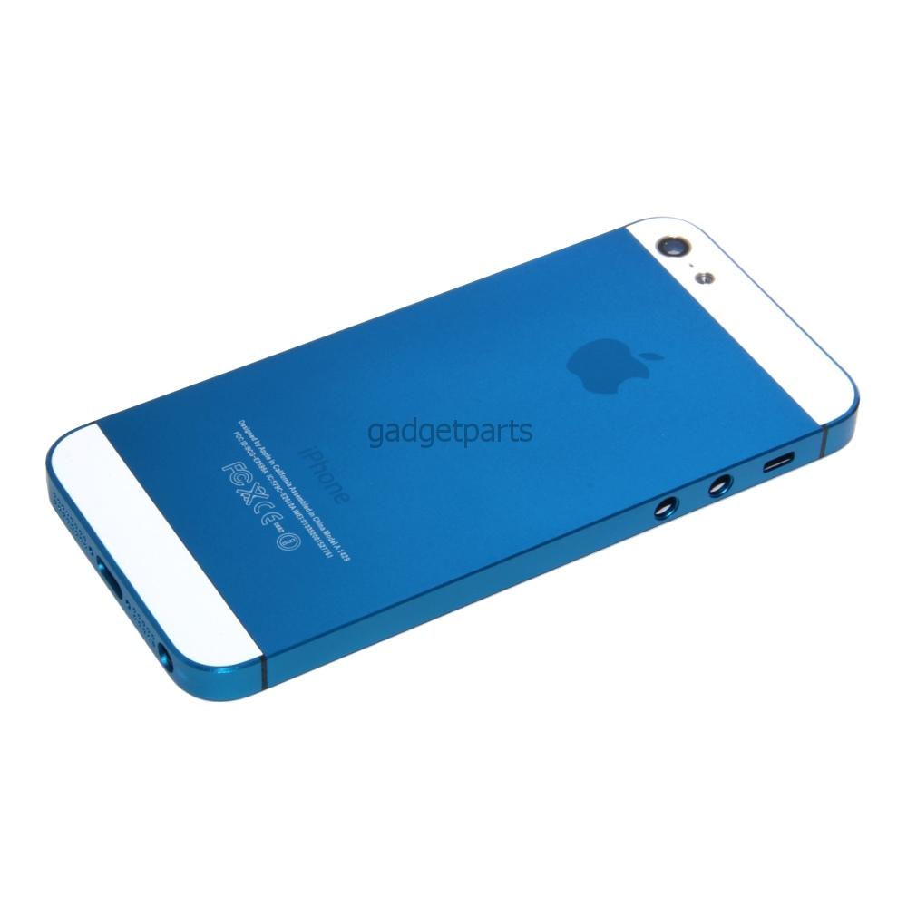 Задняя крышка iPhone 5 Синяя (Dark blue)