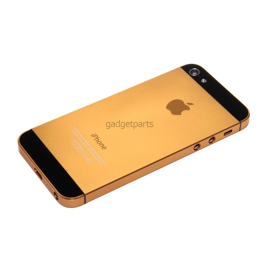 Задняя крышка iPhone 5 Оранжевая (Orange)
