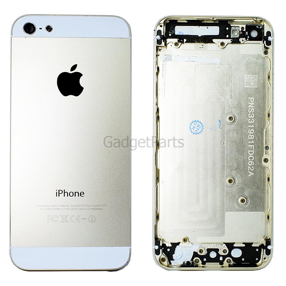 Задняя крышка iPhone 5 Золотая (Gold)