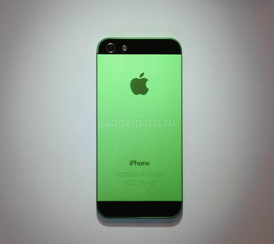 Задняя крышка iPhone 5 Зелено-Черная (Green-Black)