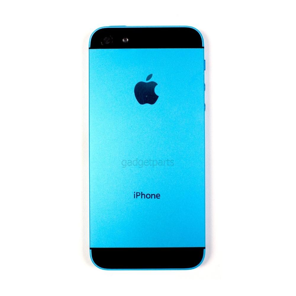 Задняя крышка iPhone 5 Голубо-Черная (Blue-Black)