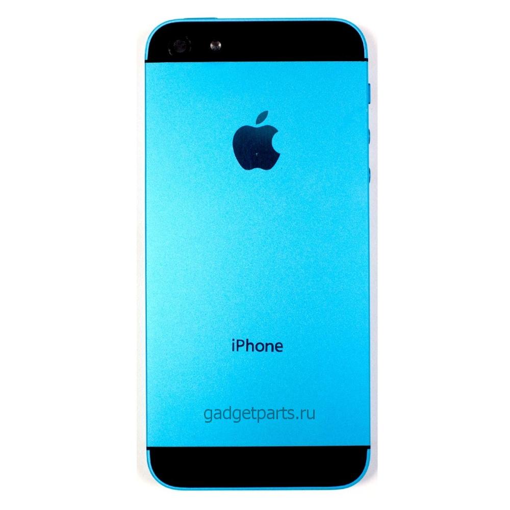 Задняя крышка iPhone 5 Сине-Черная (Blue-Black)
