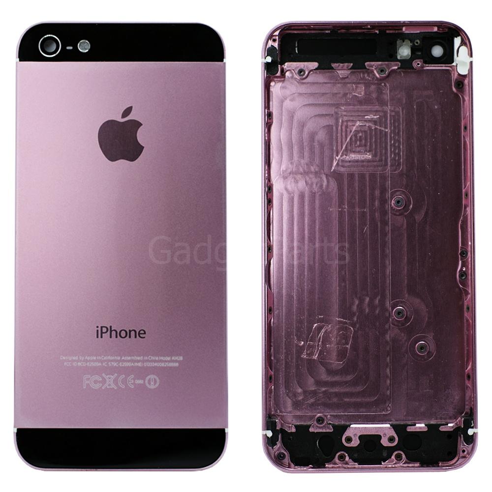 Задняя крышка iPhone 5 Розово-Черная (Pink-Black)