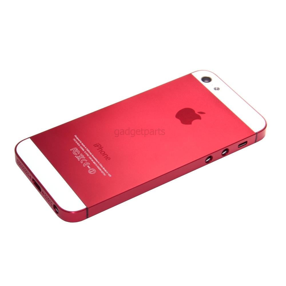 Задняя крышка iPhone 5 Красная (Red)