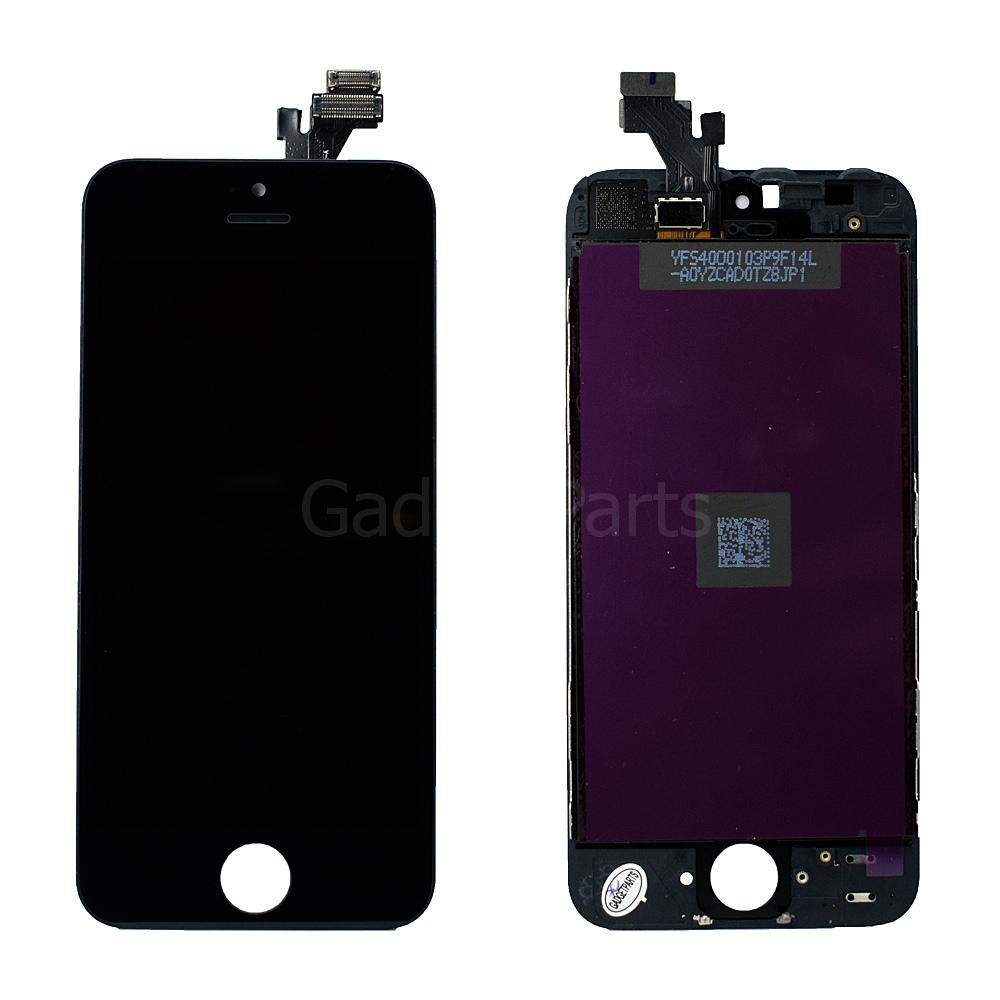 Модуль (дисплей, тачскрин, рамка) iPhone 5G Черный (Black) HQ