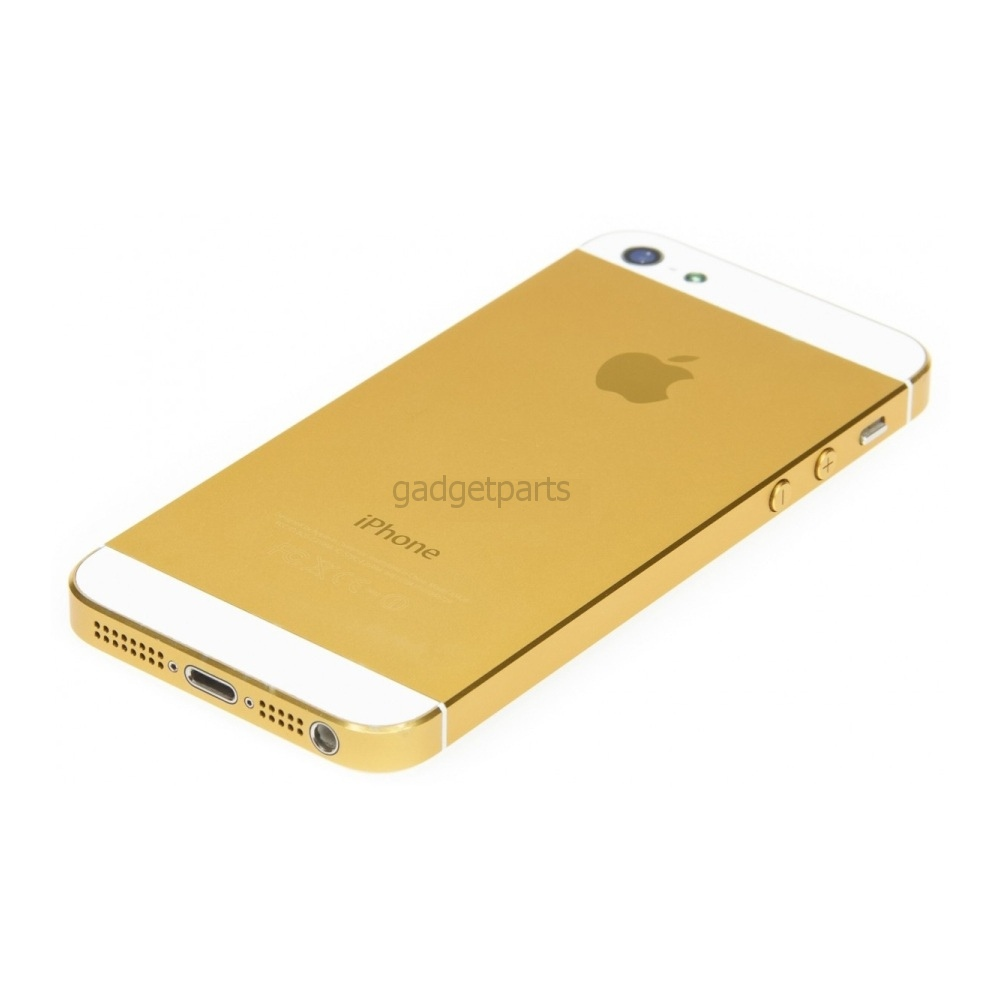 Задняя крышка iPhone 5 Золотисто-Белая (Gold-White)