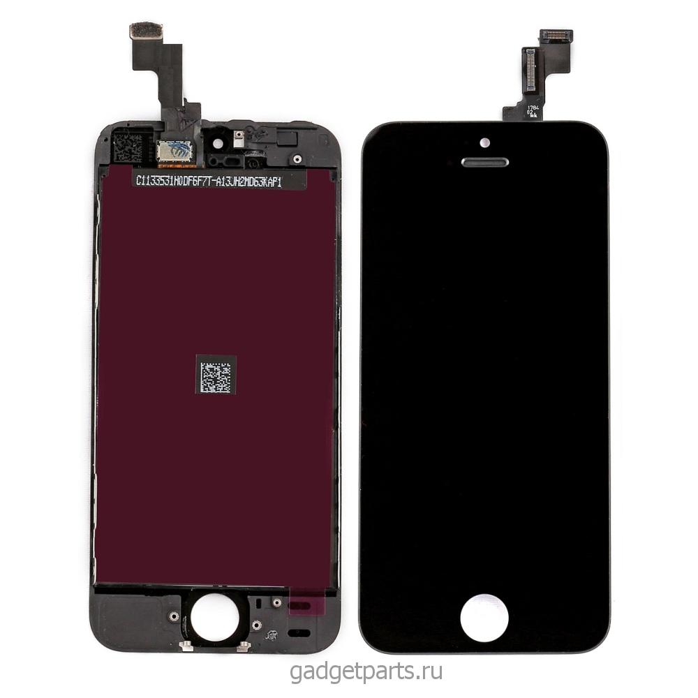 Модуль (дисплей, тачскрин, рамка) iPhone 5S, SE Черный (Black) HQ
