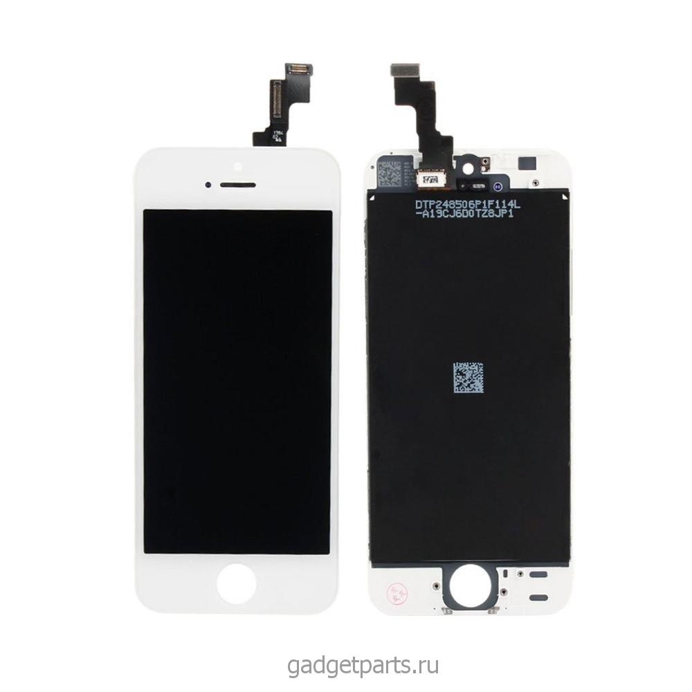 Модуль (дисплей+тачскрин+рамка) iPhone 5S, SE Белый (White) HQ