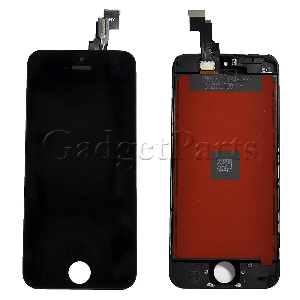 Модуль (дисплей, тачскрин, рамка) iPhone 5C Черный (Black) HQ