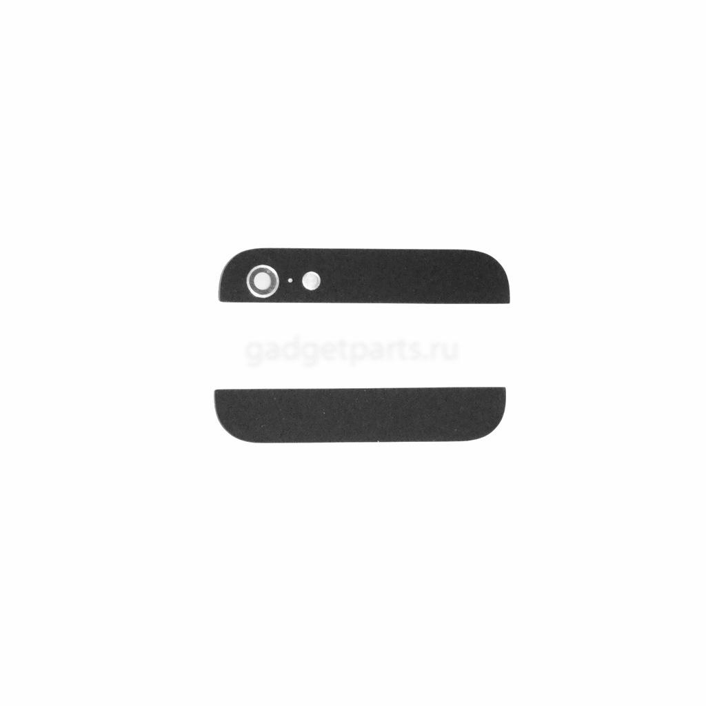 Стекла для задней крышки iPhone 5 Черные (Black)