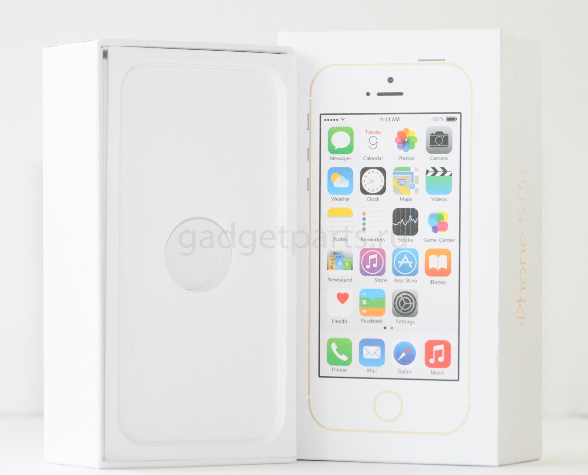 Коробка iPhone 5S Золотая (Gold)