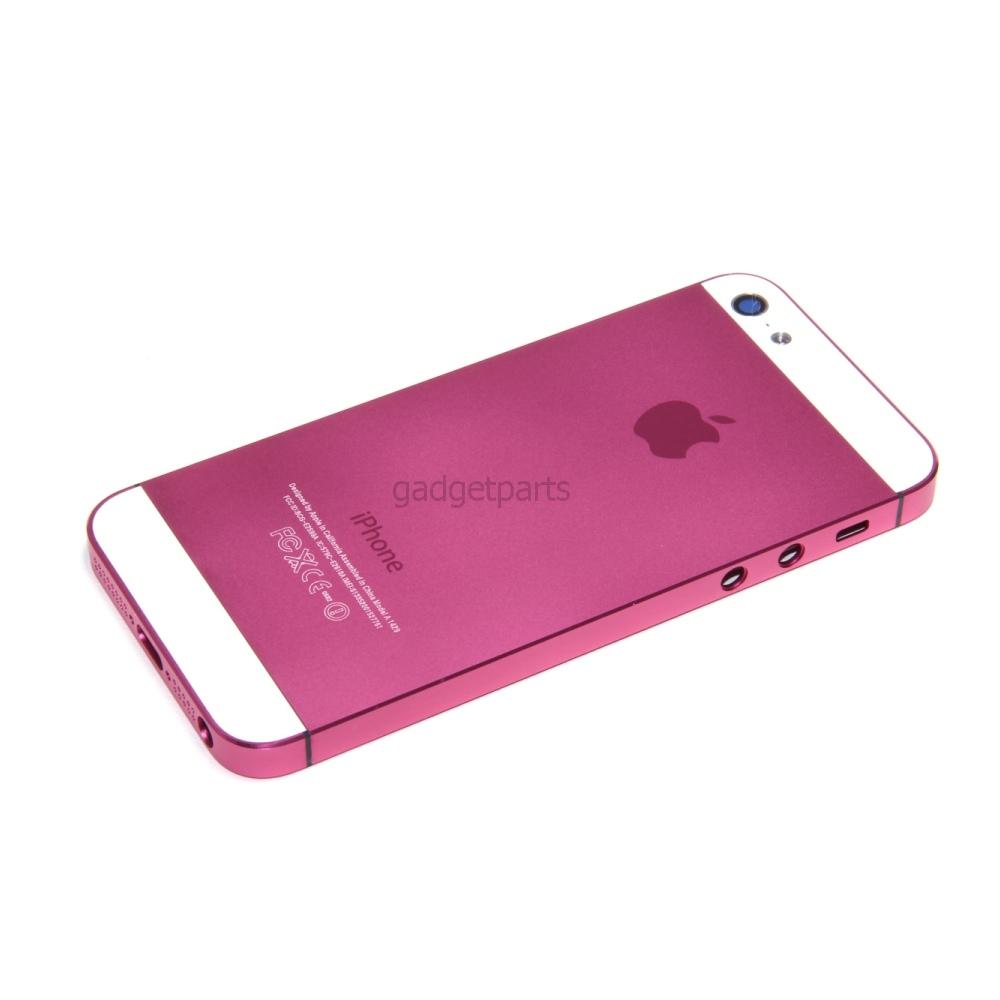 Задняя крышка iPhone 5 Розово-Белая (Pink-White)