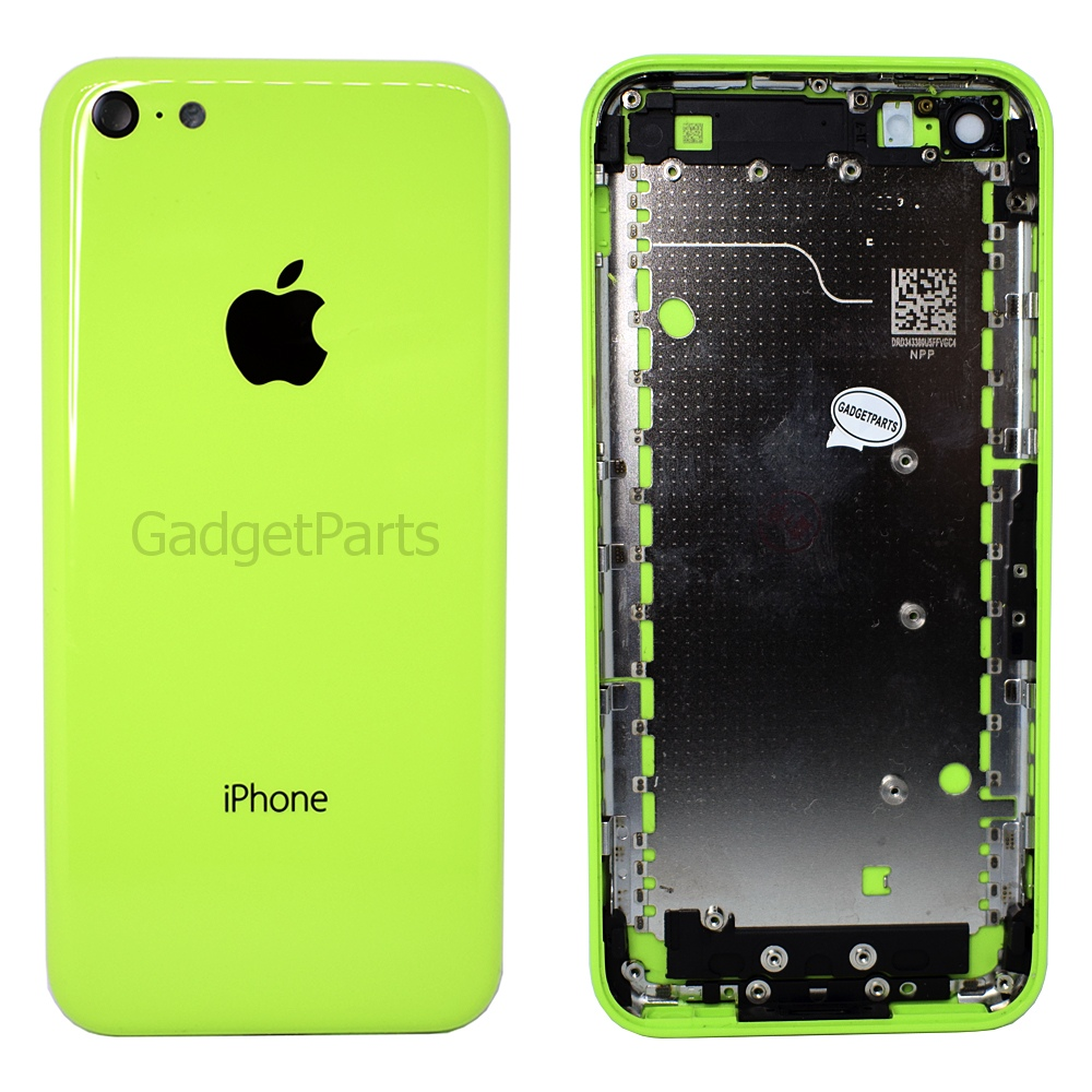 Задняя крышка (комплект кнопок, сим-лоток) iPhone 5C Зеленая (Green) Оригинал