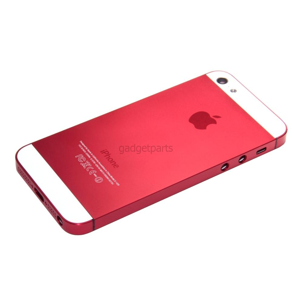 Задняя крышка iPhone 5S Красная (Red)