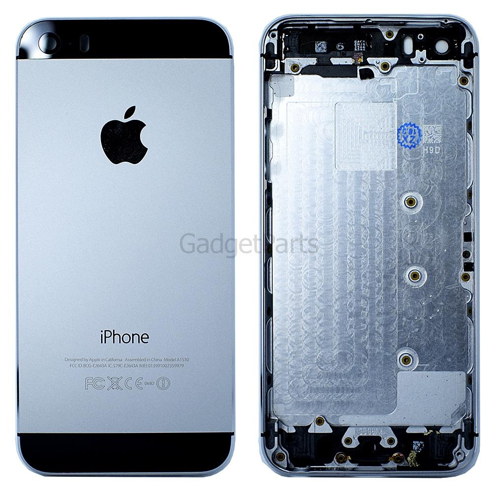 Задняя крышка iPhone 5S Черная (Space Gray, Black) Оригинал