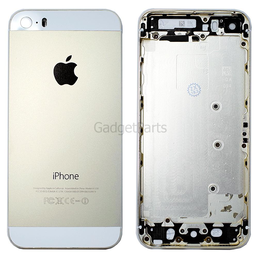 Задняя крышка iPhone 5S Золотая (Gold) Оригинал