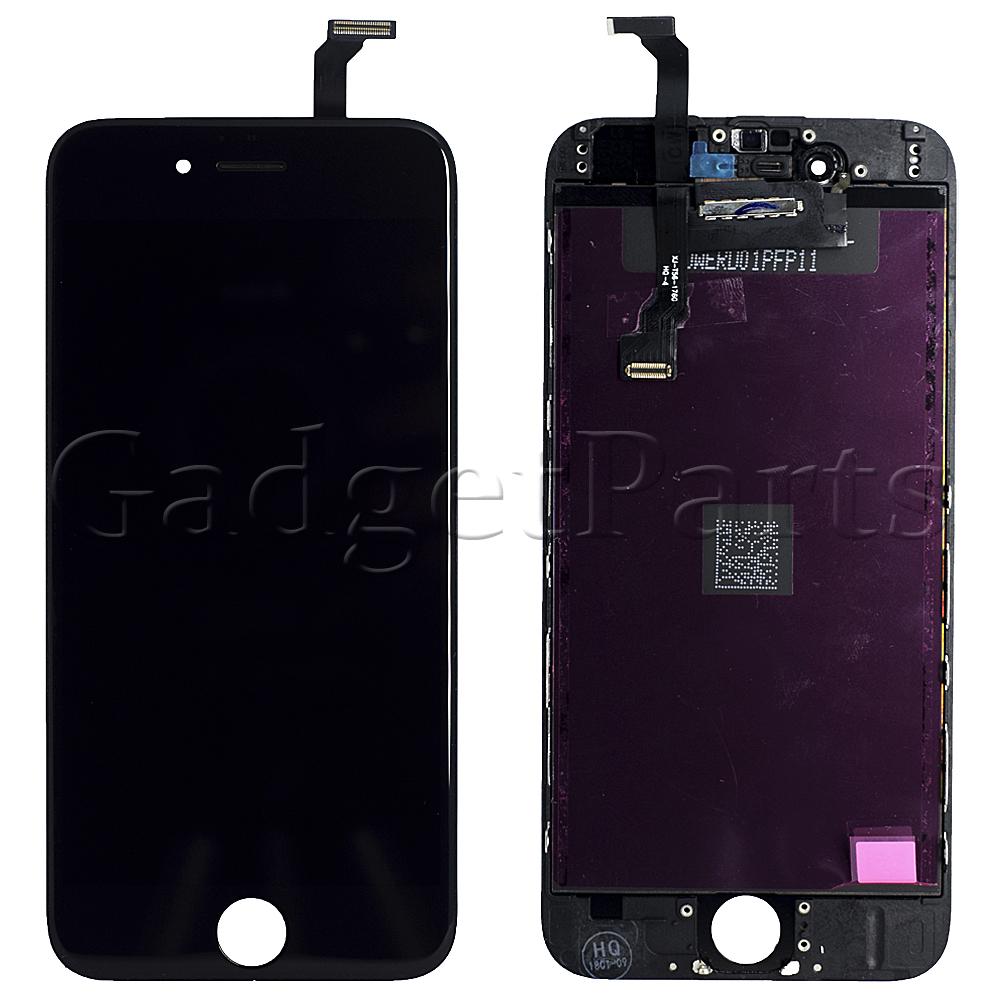Модуль (дисплей, тачскрин, рамка) iPhone 6 Черный (Black) Оригинальная матрица