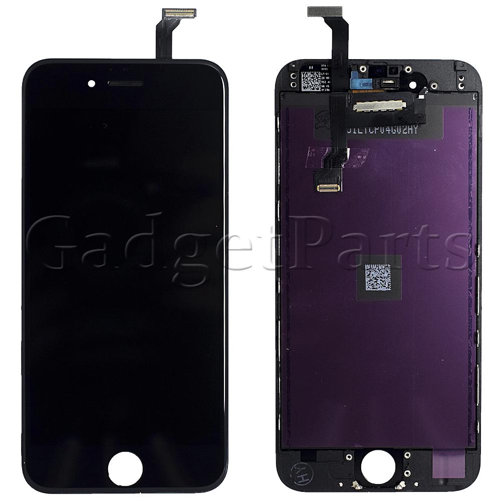 Модуль (дисплей, тачскрин, рамка) iPhone 6 Черный (Black) HQ