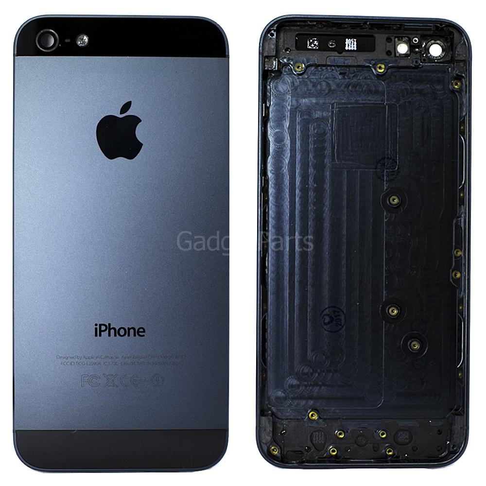 Задняя крышка iPhone 5 Черная (Black) Оригинал