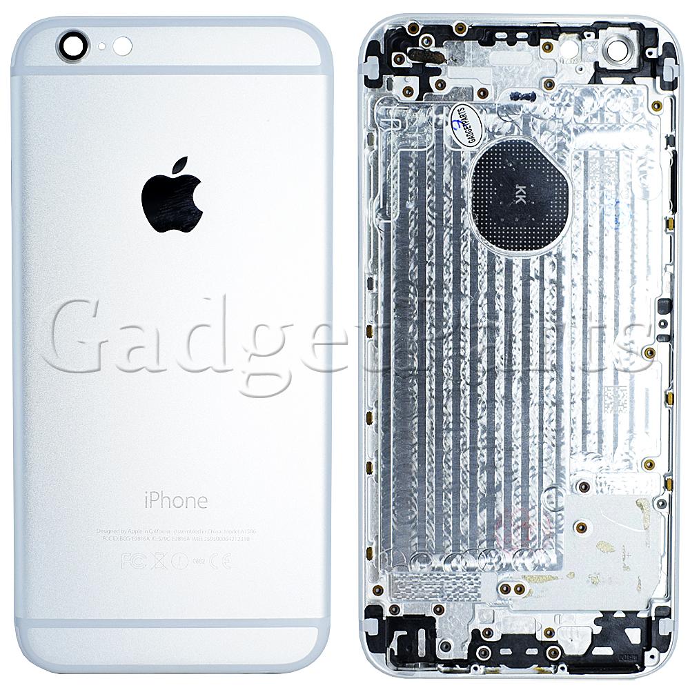 Задняя крышка iPhone 6 Серебряная, Белая (Silver, White)
