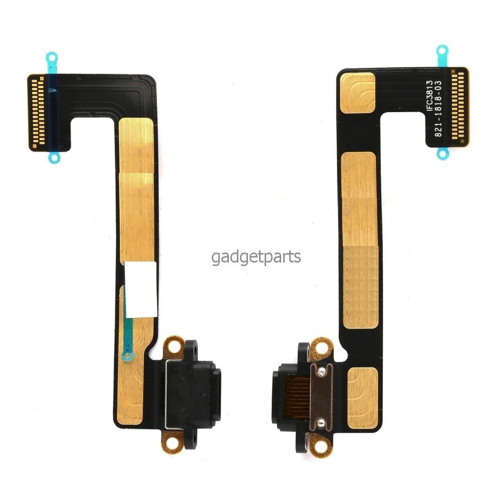 Нижний шлейф зарядки iPad mini 2 Retina, mini 3 Retina Черный (Black)