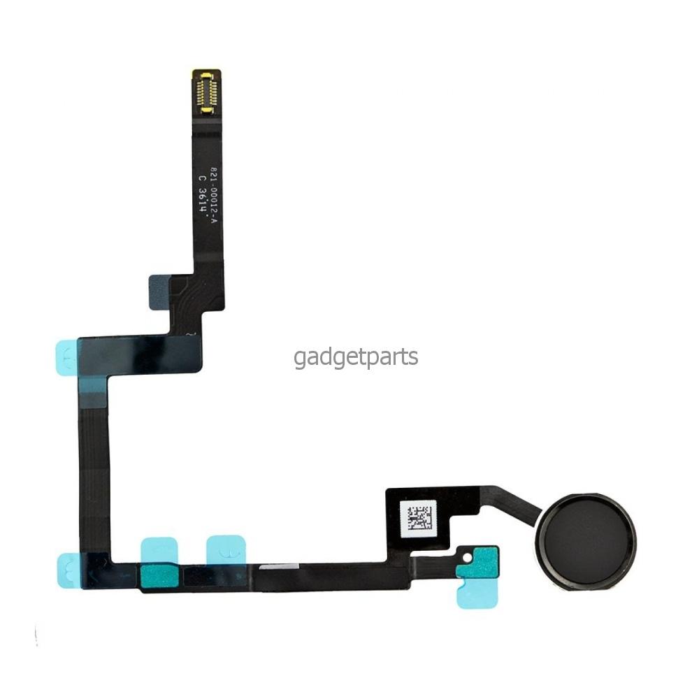 Кнопка Hоme в сборе с шлейфом iPad mini 3 Retina Черная (Black) Оригинал