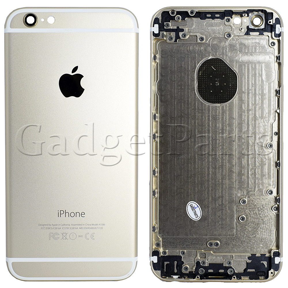 Задняя крышка iPhone 6 Золотая (Gold)
