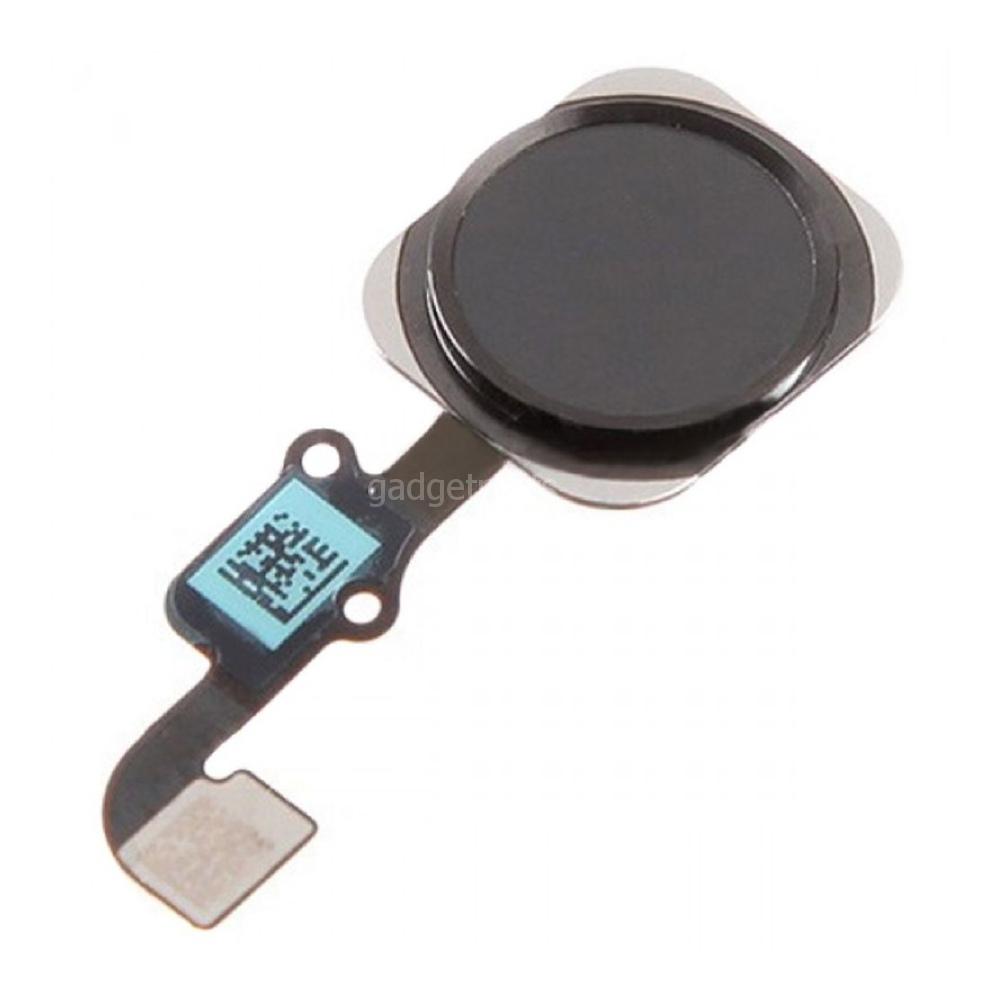 Кнопка Home в сборе с шлейфом iPhone 6 Plus Черная (Black) Оригинал
