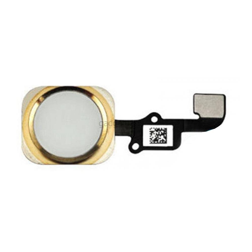 Кнопка Home в сборе с шлейфом iPhone 6 Plus Золотая (Gold) Оригинал