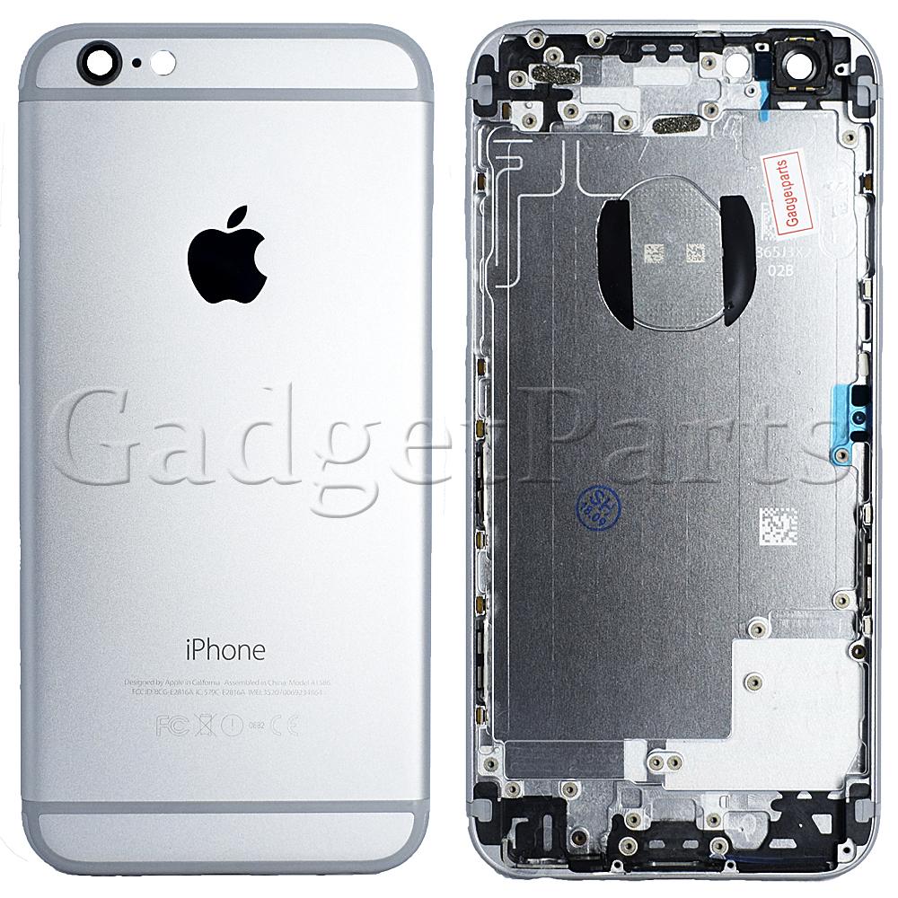 Задняя крышка iPhone 6 Черная (Space Gray, Black) Оригинал