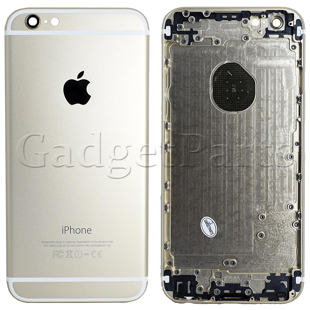 Задняя крышка iPhone 6 Золотая (Gold) Оригинал