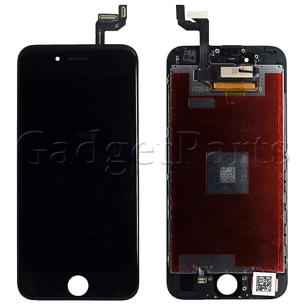 Модуль (дисплей, тачскрин, рамка) iPhone 6S Черный (Black) HQ