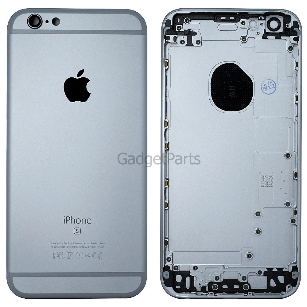 Задняя крышка iPhone 6S Черная (Space Gray, Black) Оригинал