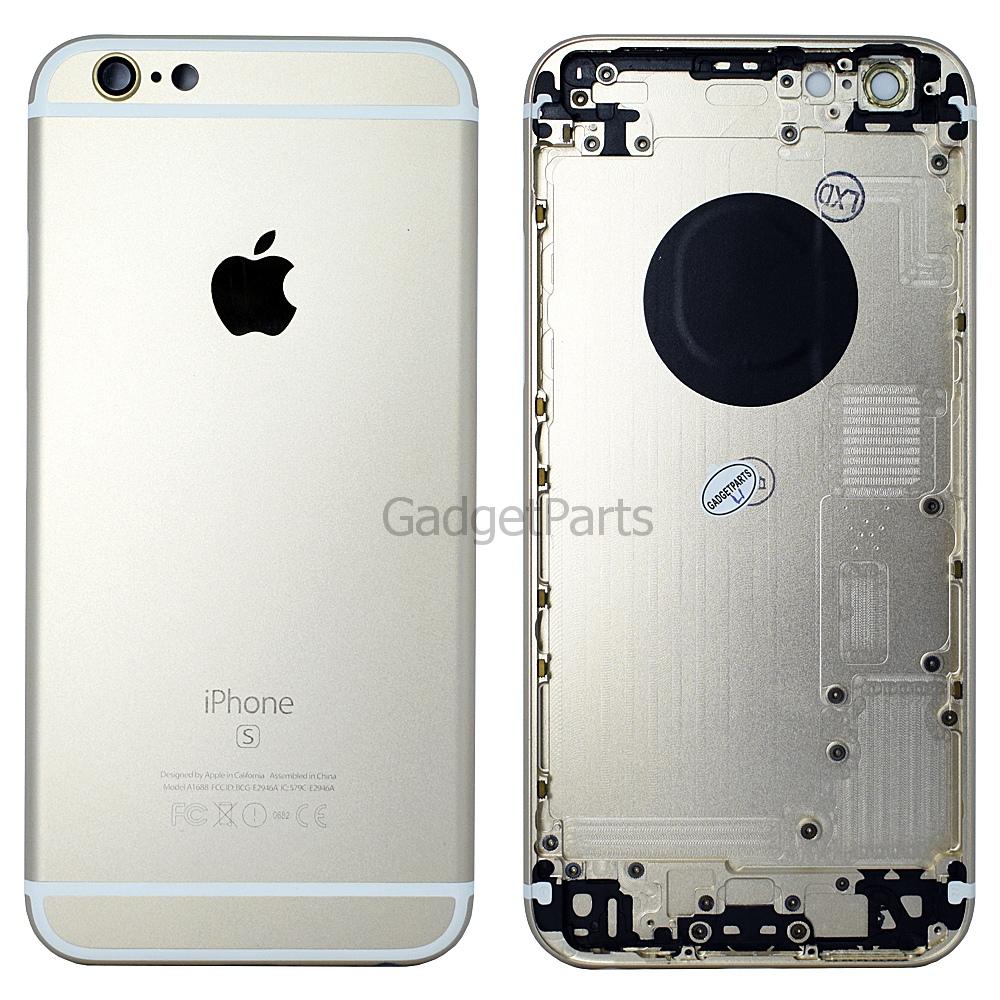 Задняя крышка iPhone 6S Золотая (Gold) Оригинал