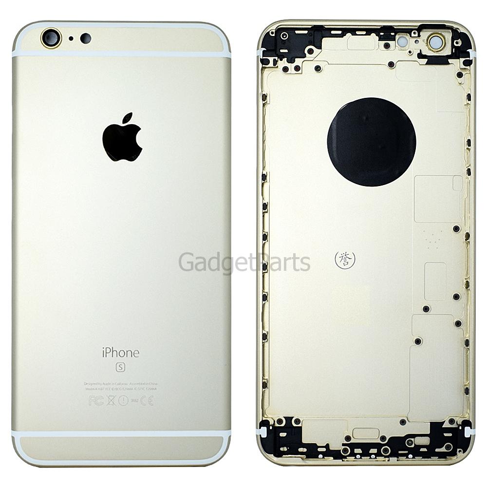 Задняя крышка iPhone 6S Plus Золотая (Gold) Оригинал