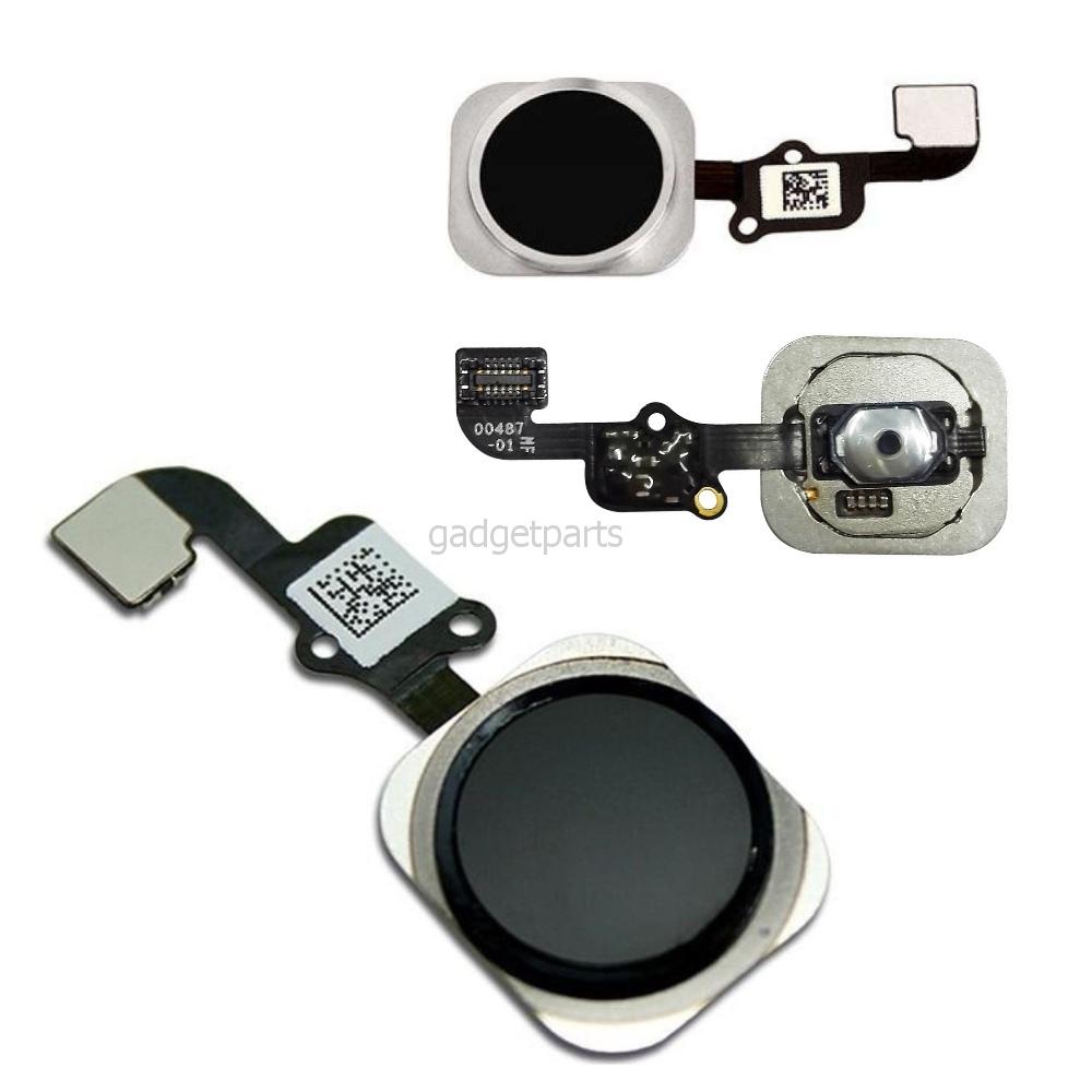 Кнопка Hоme в сборе с шлейфом iPhone 6S Черная (Black) Оригинал