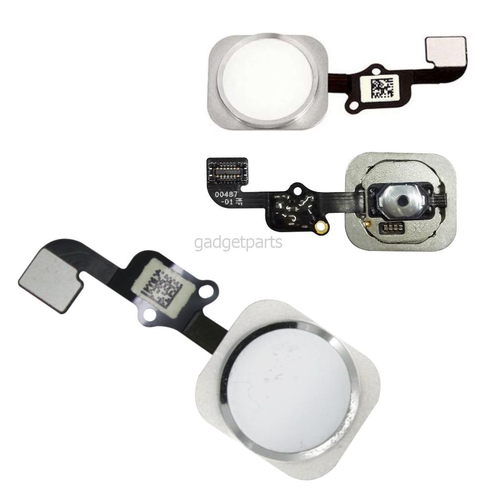 Кнопка Hоme в сборе с шлейфом iPhone 6S Белая (White) Оригинал