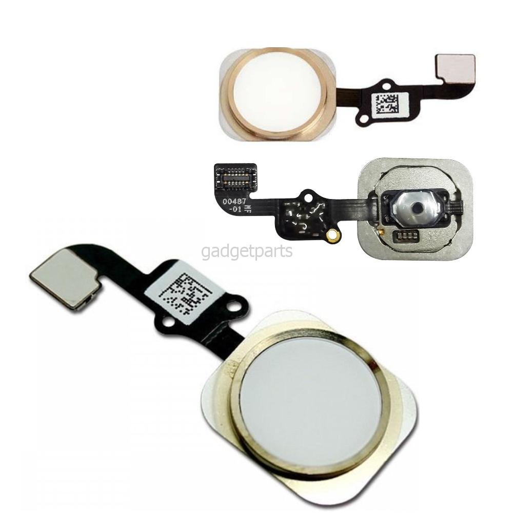 Кнопка Hоme в сборе с шлейфом iPhone 6S Золотая (Gold) Оригинал