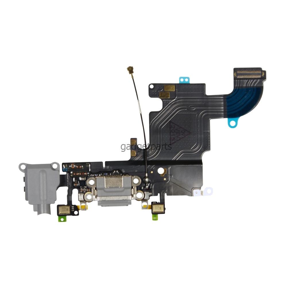 Аудио шлейф с системным разъемом iPhone 6S Черный (Black)