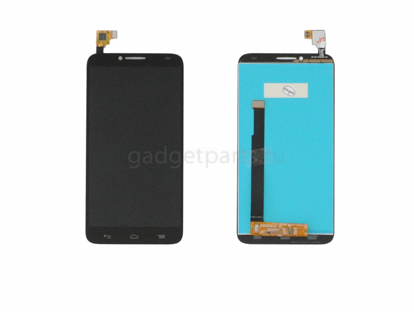 Модуль (дисплей, тачскрин) Alcatel OT6037Y, OT6037K (Idol 2) Черный (Black) Оригинал
