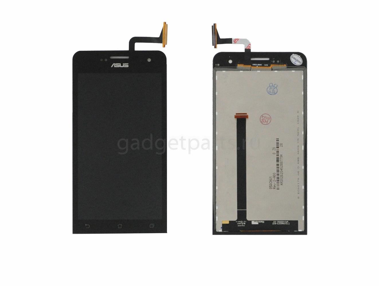 Модуль (дисплей, тачскрин) Asus Zenfone 5 A500CG, A500KL, A501CG Черный (Black) Оригинал