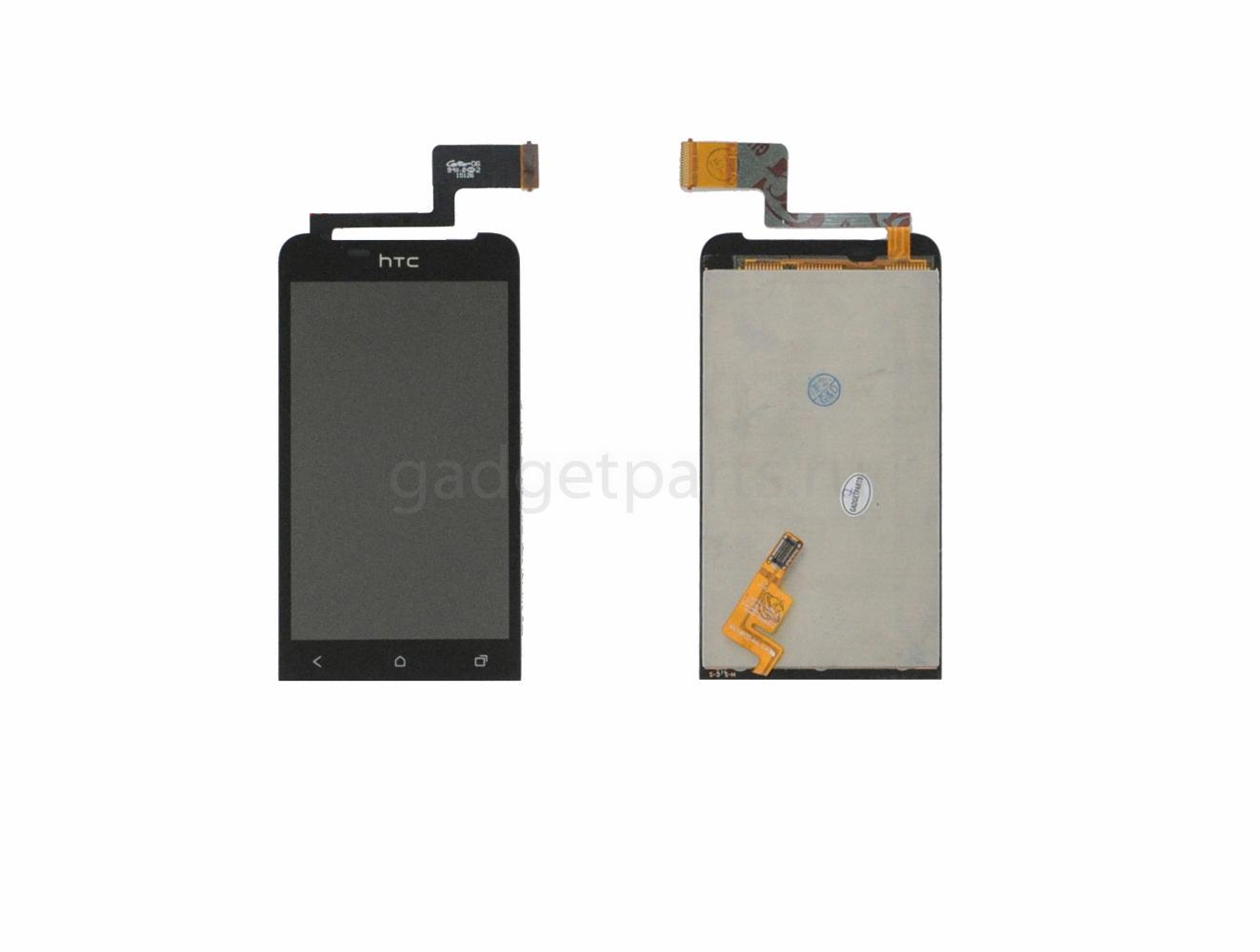 Модуль (дисплей, тачскрин) HTC ONE V, T320E, G24 Черный (Black) Оригинал