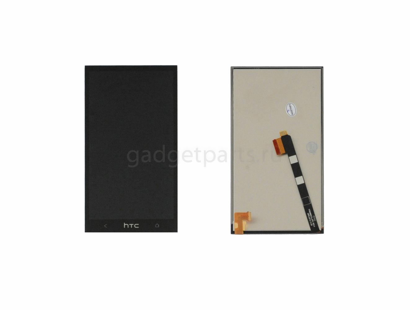Модуль (дисплей, тачскрин) HTC ONE M7, 801e Черный (Black) Оригинал