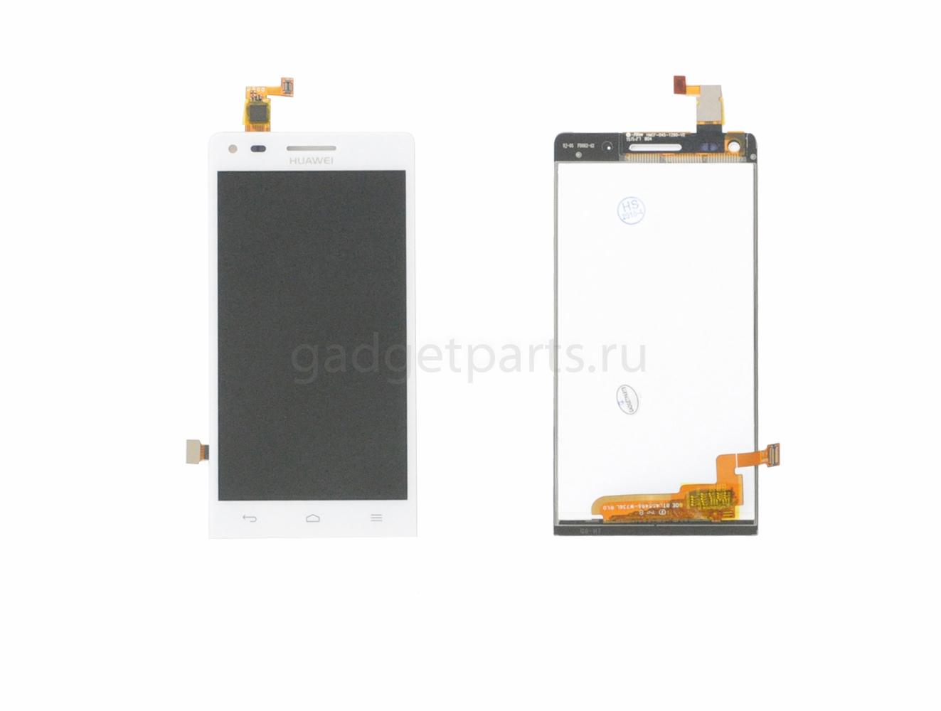 Модуль (дисплей, тачскрин) Huawei Ascend G6 Белый (White) Оригинал