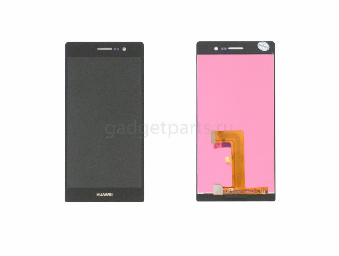 Модуль (дисплей+тачскрин) Huawei Ascend P7 Черный (Black)